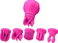 Стимулятор Adrien Lastic Caress с насадками / 57902 (розовый) -