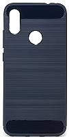 Чехол-накладка Case Brushed Line для Redmi Note 7 (матовый синий) -