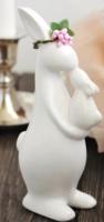 Статуэтка Нашы майстры Заяц с зайчонком / 3010 (белый) -