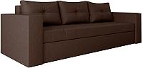 Диван Настоящая мебель Константин экокожа (коричневый) -