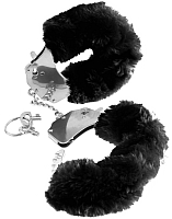 Наручники Pipedream Furry Love Cuffs / 16086 (с черным мехом) -