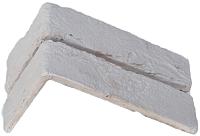 Декоративный камень Stone Mill Кирпич Шамотный угловой элемент ПГД-1-Л У301 (слоновая кость) -