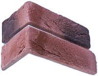 Декоративный камень Stone Mill Кирпич Шамотный угловой элемент ПГД-1-Л У305 (темная охра) -