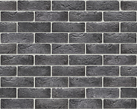 Декоративный камень Stone Mill Кирпич Шамотный угловой элемент ПГД-1-Л У309 (антрацит) -