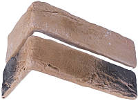 Декоративный камень Stone Mill Кирпич Шамотный угловой элемент ПГД-1-Л У304 (коричневый) -
