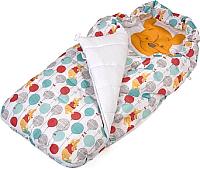 Комбинезон/конверт прогулочный Polini Kids Медвежонок Винни. Чудесный день (разноцветный) -