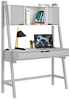 Письменный стол Polini Kids Mirum 1445 с полкой (серый) -