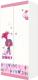 Шкаф Polini Kids Fun 890 Тролли двухсекционный (розовый) -