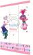 Шкаф Polini Kids Fun 1360 Тролли трехсекционный (розовый) -