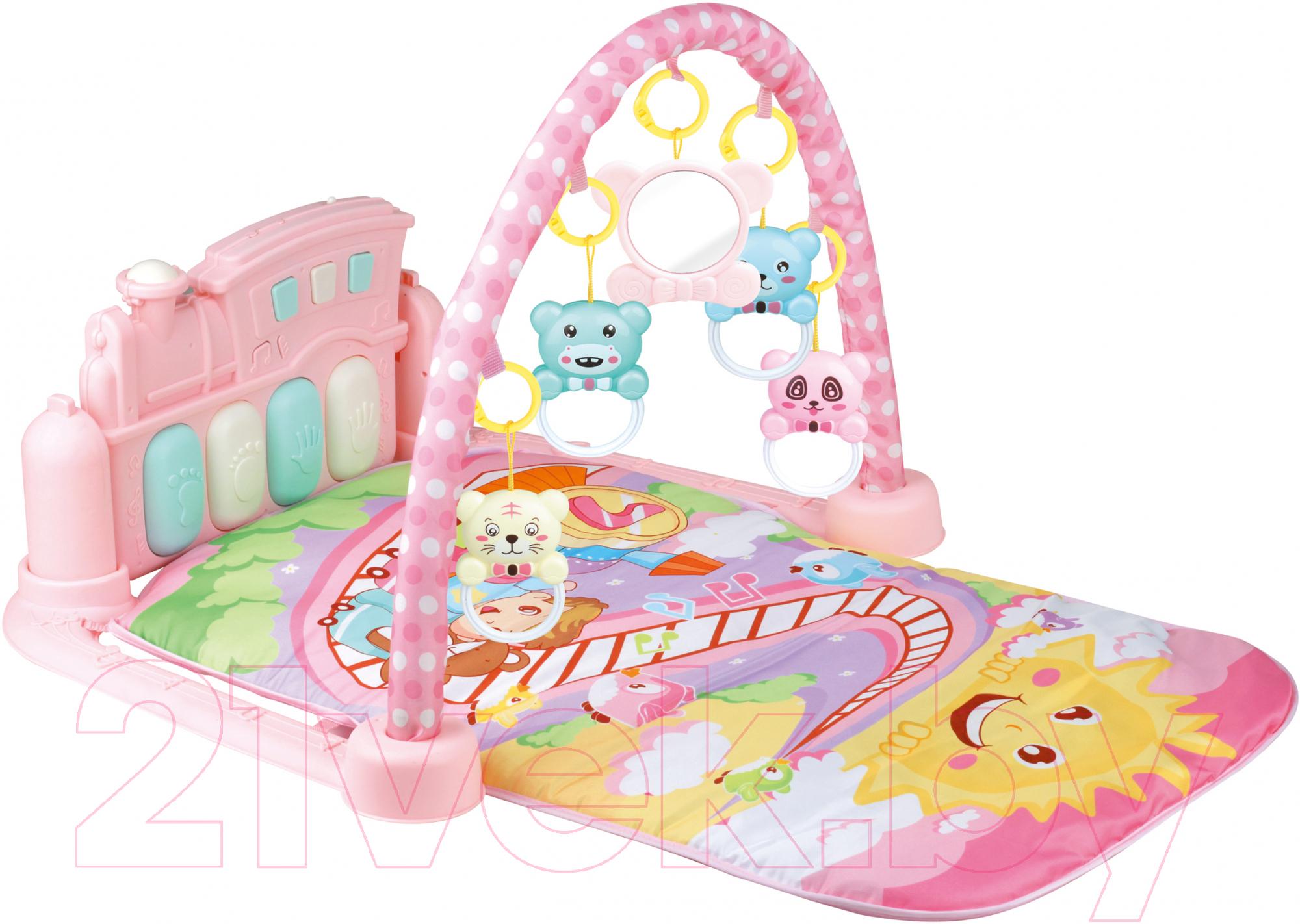 Купить Развивающий коврик Sundays, Музыкальный / 223205 (розовый), Китай, пластик