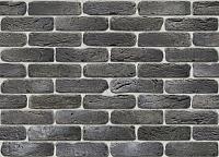 Декоративный камень Stone Mill Кирпич Лофтбрик угловой элемент ПГД-1-Л У109 (антрацит) -