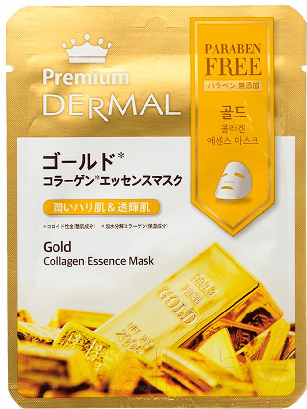 Купить Маска для лица тканевая Dermal, Premium Gold Collagen Essence Mask (25г), Южная корея, Premium (Dermal)