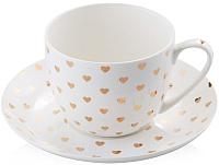 Чашка с блюдцем Home and You 38994-BIA-FIL -