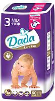 Подгузники Dada Extra Care Midi 3 (60шт) -