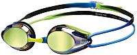 Очки для плавания ARENA Tracks Mirror 92370 776 (Blue/Blue/Green) -