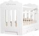 Детская кроватка VDK Bonne маятник и ящик (белый) -