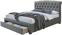 Двуспальная кровать Halmar Avanti 160x200 (серый) -