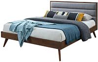 Двуспальная кровать Halmar Orlando 160x200 (серый/орех) -