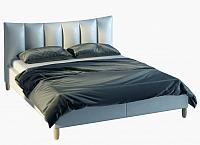 Двуспальная кровать Halmar Sandy 2 160x200 (серый/бук) -