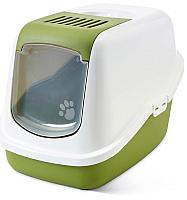 Туалет-домик Savic Nestor 02270WTG (белый/зеленый) -