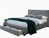 Двуспальная кровать Halmar Valery 160x200 (серый/орех) -