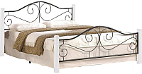Полуторная кровать Halmar Violetta 140x200 (белый/черный) -