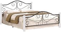 Полуторная кровать Halmar Violetta 120x200 (белый/черный) -