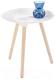 Журнальный столик Halmar Bingo (белый/сосна) -
