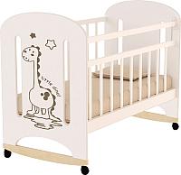 Детская кроватка VDK Dino колесо-качалка (слоновая кость) -