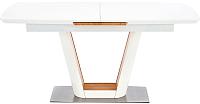 Обеденный стол Halmar Valetti (белый матовый/дуб золотой) -