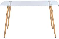 Обеденный стол Halmar Next (стекло/дуб медовый) -