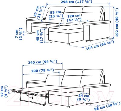 Диван угловой Ikea Лидгульт 692.660.78