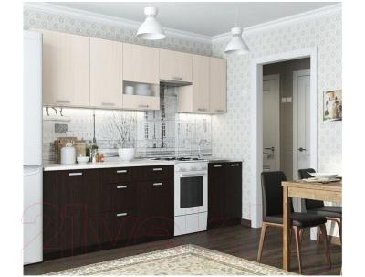 Готовая кухня SV-мебель Розалия 1.7 (дуб венге/дуб млечный) - фото в интерьере