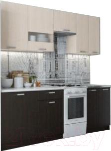 Готовая кухня SV-мебель Розалия 1.7 (дуб венге/дуб млечный)