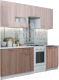Готовая кухня SV-мебель Розалия 1.7 (ясень шимо темный/ясень шимо светлый) -