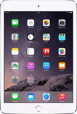 Планшет Apple iPad Mini 3 16Gb / MGNV2TU/A (серебристый) - фронтальный вид
