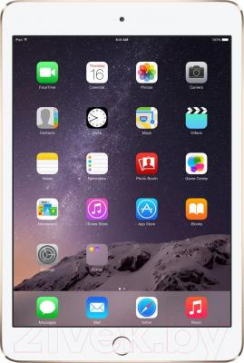 Планшет Apple iPad Mini 3 16Gb 4G / MGYR2TU/A (золото) - фронтальный вид