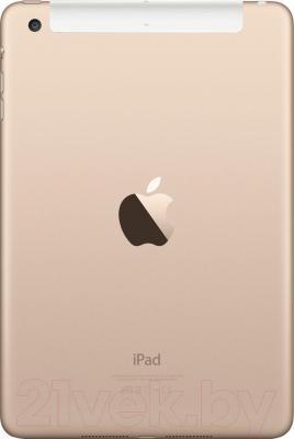 Планшет Apple iPad Mini 3 64Gb 4G / MGYN2TU/A (золото) - вид сзади