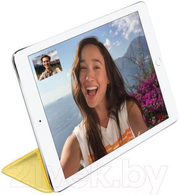 Чехол для планшета Apple iPad Air Smart Cover MGXN2ZM/A (желтый) - пример использования