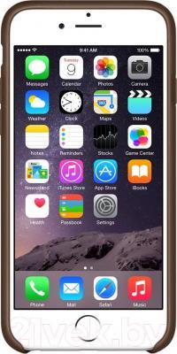 Чехол-накладка Apple iPhone 6 Leather Case MGR22ZM/A (коричневый) - вид спереди