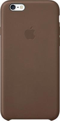 Чехол-накладка Apple iPhone 6 Leather Case MGR22ZM/A (коричневый) - общий вид