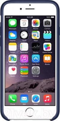Чехол-накладка Apple iPhone 6 Leather Case MGR32ZM/A (темно-синий) - вид спереди
