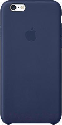 Чехол-накладка Apple iPhone 6 Leather Case MGR32ZM/A (темно-синий) - общий вид