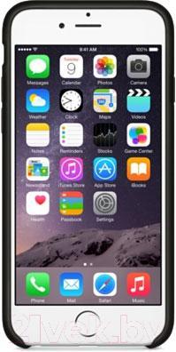 Чехол-накладка Apple iPhone 6 Leather Case MGR62ZM/A (черный) - вид спереди