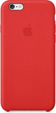 Чехол-накладка Apple iPhone 6 Leather Case MGR82ZM/A (красный) - общий вид