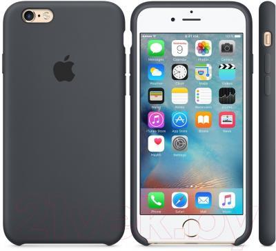 Чехол-накладка Apple iPhone 6 Silicone Case Black (MGQF2ZM/A)