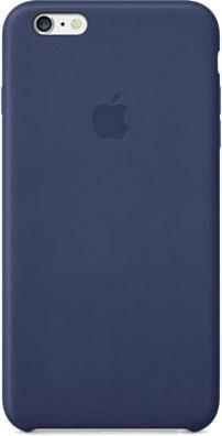 Чехол-накладка Apple iPhone 6 Plus Leather Case MGQV2 (темно-синий) - общий вид