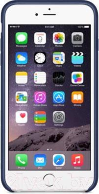 Чехол-накладка Apple iPhone 6 Plus Leather Case MGQV2 (темно-синий) - вид спереди