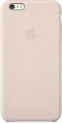 Чехол-накладка Apple iPhone 6 Plus Leather Case MGQW2ZM/A (светло-розовый) - общий вид