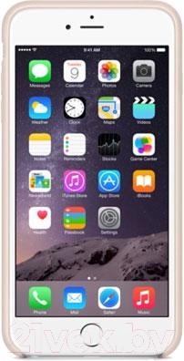 Чехол-накладка Apple iPhone 6 Plus Leather Case MGQW2ZM/A (светло-розовый) - вид спереди